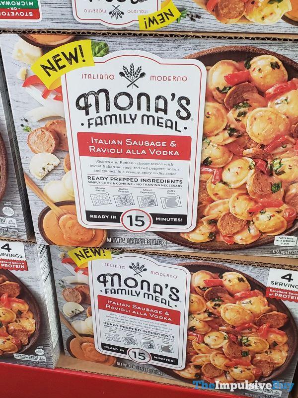 Mona s Family Meal Italian Sausage  Ravioli Alla Vodka