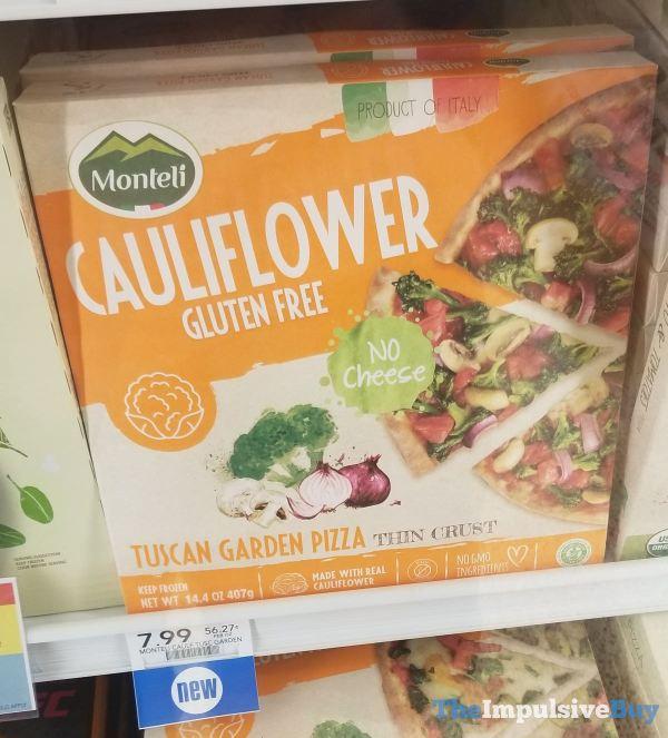 Monteli Cauliflower Gluten Free Tuscan Garden Pizza Thin Crust