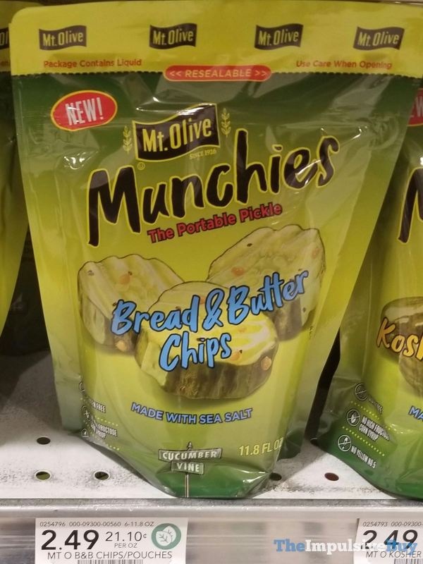 Mt Olive Munchies Bread  Butter Chips Pouch