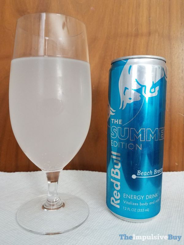Red Bull Summer Edition Beach Breeze Glass