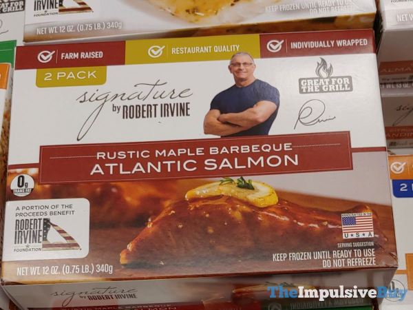 Signature by Robert Irvine Rustic Maple Barbeque Atlantic Salmon
