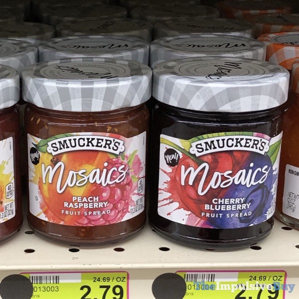 Smuckers Mosaics Fruit Spreads  Peach Raspberry and Cherry Blueberry