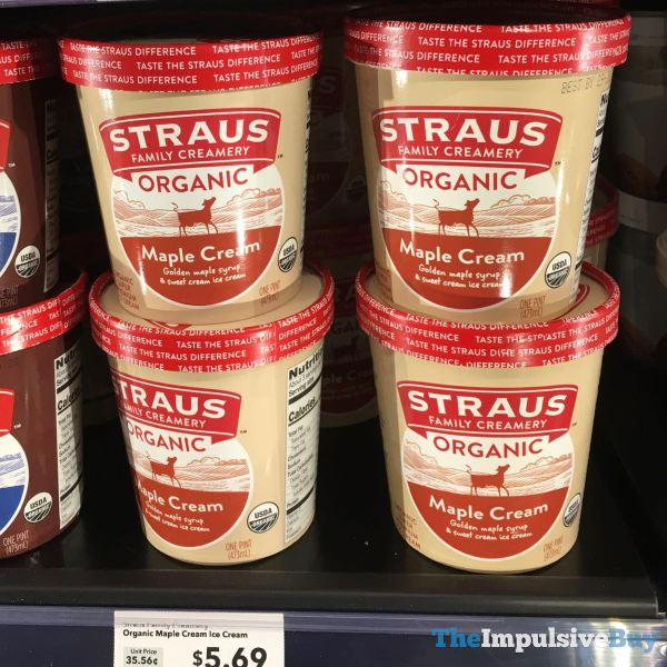 Straus Family Creamery Organic Maple Cream Ice Cream