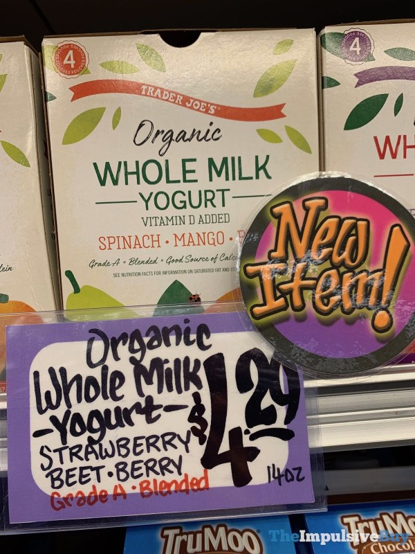 Trader Joe s Organic Whole Milk Yogurt Spinach Mango Pear