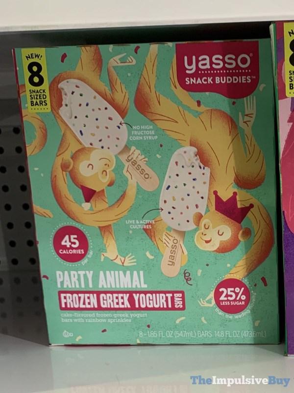 Yasso Snacks Buddies Party Animal Frozen Greek Yogurt Bars