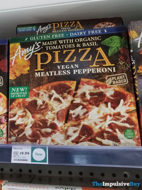 Amy s Pizza Vegan Meatless Pepperoni with Improved Gluten Free Crust