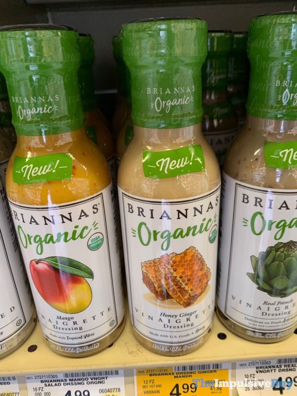 Briannas Organic Mango and Honey Ginger Vinaigrette Dressings