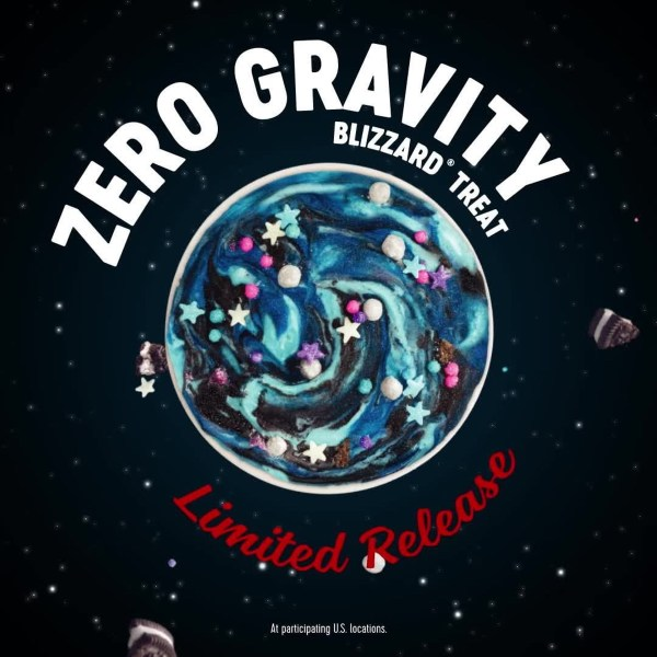 Dairy Queen Limited Release Zero Gravity Blizzard