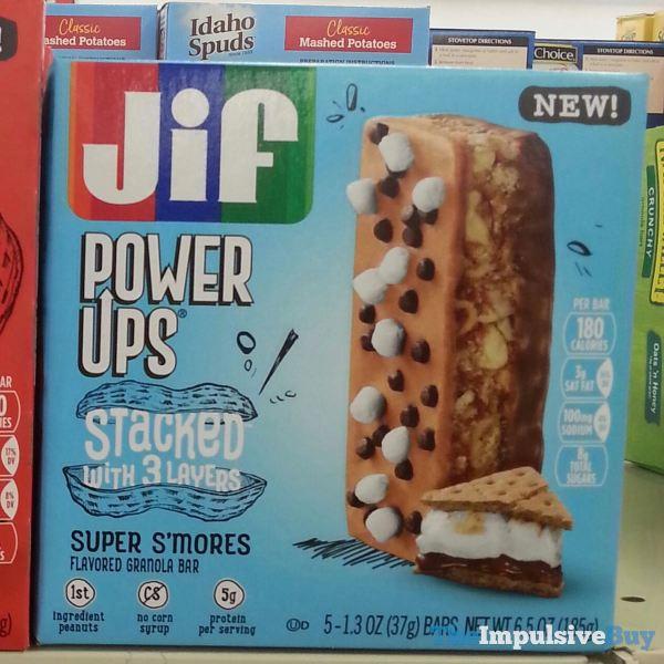 Jif Power Ups Stacked Super S mores Granola Bar