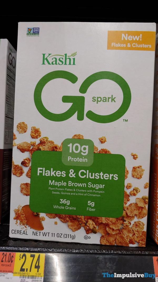 Kashi Go Spark Maple Brown Sugar Flakes  Clusters