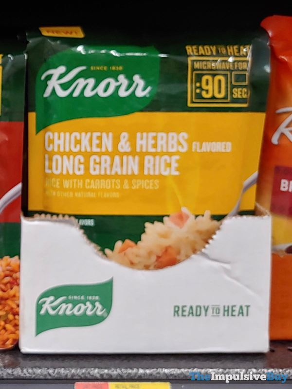 Knorr Ready to Heat Chicken  Herbs Flavored Long Grain Rice