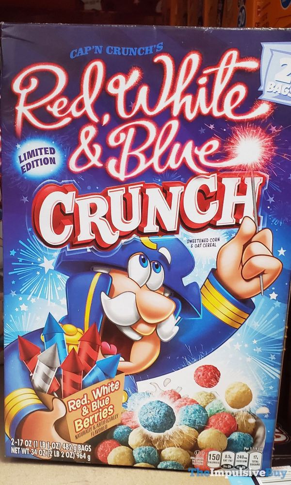 Limited Edition Cap n Crunch s Red White  Blue Crunch Cereal  Sam s Club Design