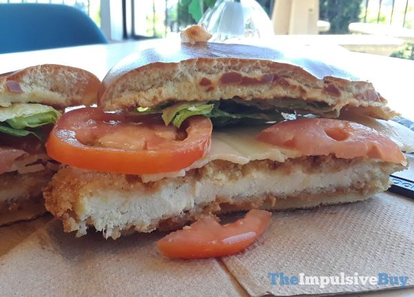 McDonald s Tomato Mozzarella Chicken Sandwich Crispy Halved