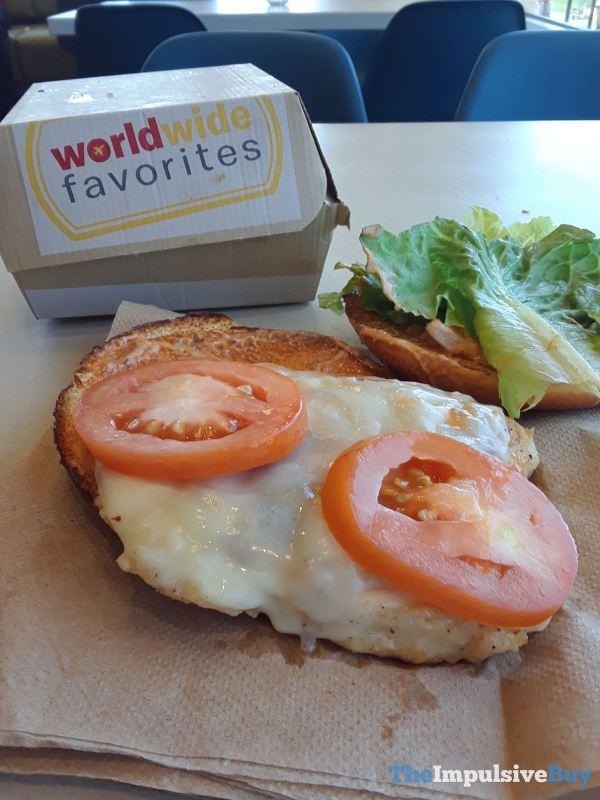 McDonald s Tomato Mozzarella Chicken Sandwich Tomatoes