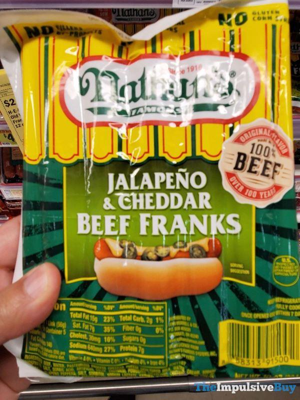 Nathan s Jalapeno  Cheddar Beef Franks