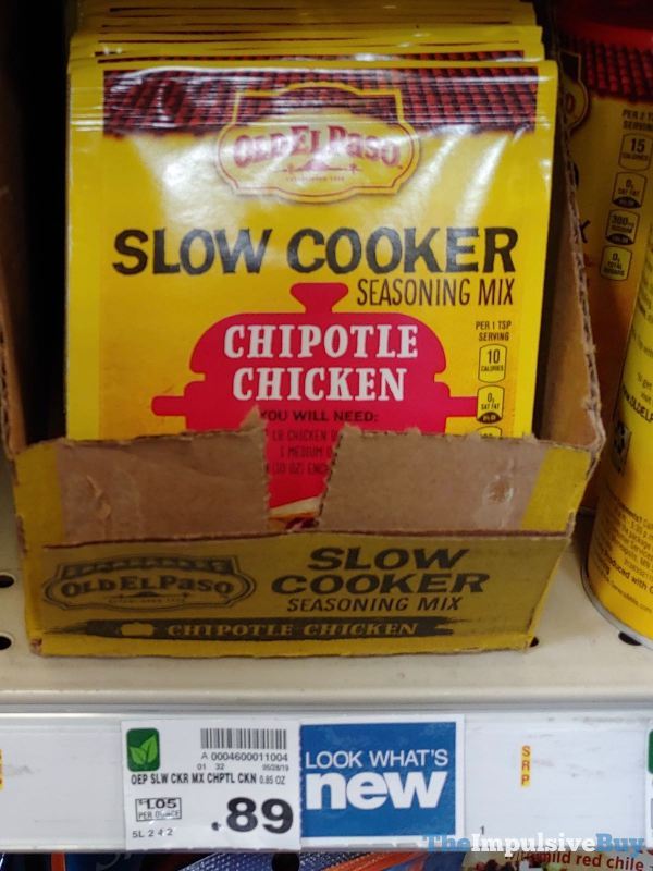 Old El Paso Chipotle Chicken Slow Cooker Seasoning Mix
