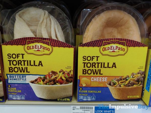 Old El Paso Soft Tortilla Bowls  Buttery Homestyle and Cheese