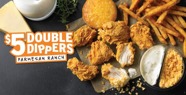 Popeyes Ranch Parmesan Double Dippers