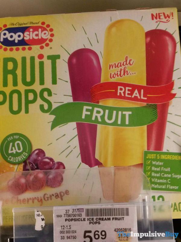 Popsicle Fruit Pops Orange Cherry Grape