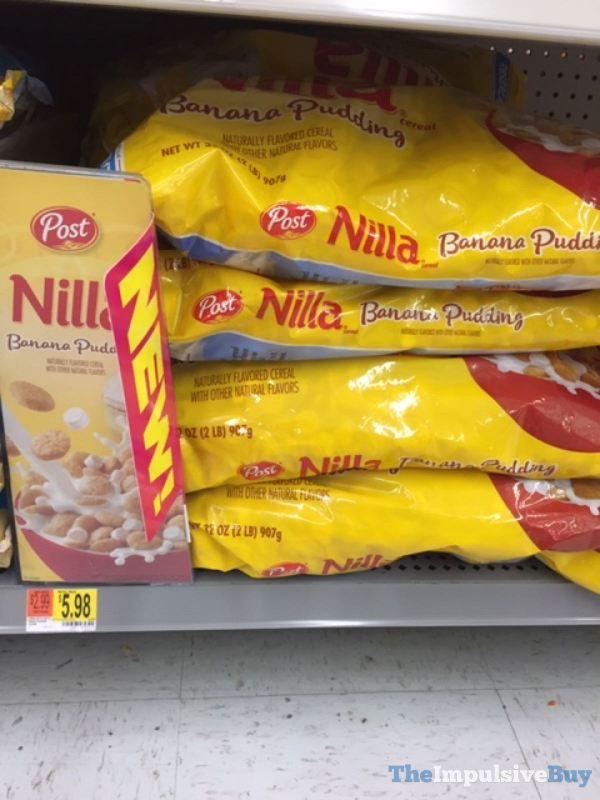 Post Nilla Banana Pudding Cereal Bag