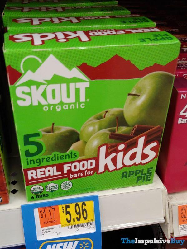 Skout Organic Apple Pie Real Food Bars for Kids