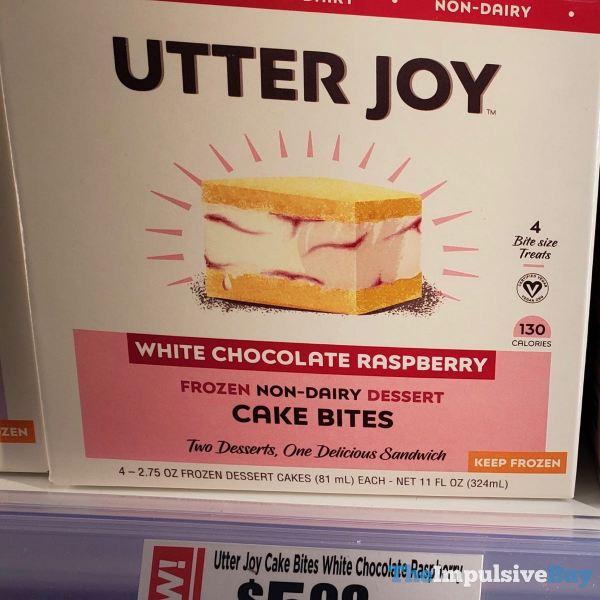 Utter Joy White Chocolate Raspberry Frozen Non Dairy Dessert Cake Bites