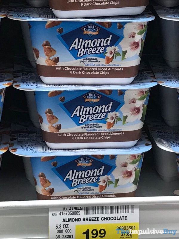 Blue Diamond Almond Breeze Almondmilk Yogurt Alternative with Chocolate Flavored Diced Almonds  Dark Chocolate Chips