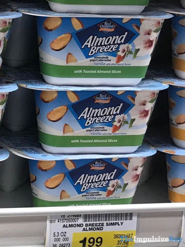 Blue Diamond Almond Breeze Almondmilk Yogurt Alternative with Toasted Almond Slices