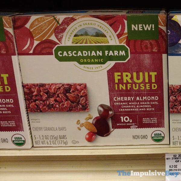 Cascadian Farm Cherry Almond Fruit Infused Chewy Granola Bars