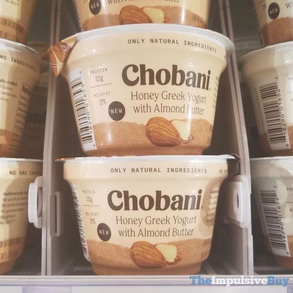 Chobani Honey Greek Yogurt with Almond Butter