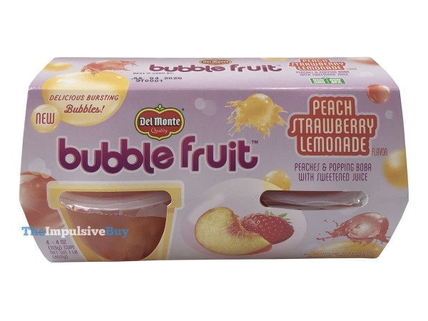 Del Monte Peach Strawberry Lemonade Bubble Fruit