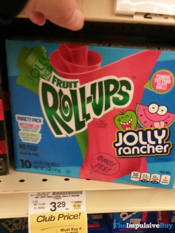 Fruit Roll ups Jolly Rancher