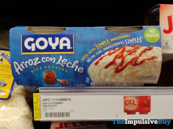 Goya Arroz con Leche Rice Pudding Dulce de Leche Snack Cups