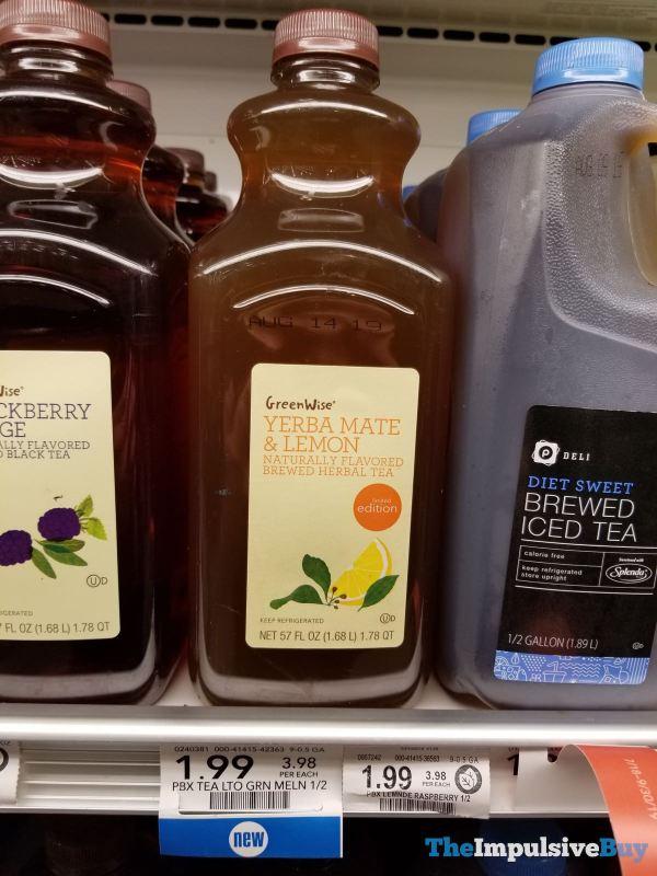 GreenWise Limited Edition Yerba Mate  Lemon Herbal Tea