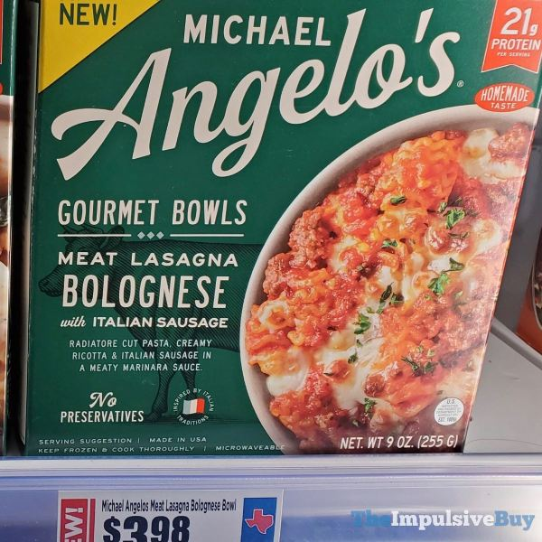 Michael Angelo s Gourmet Bowls Meat Lasagna Bolognese