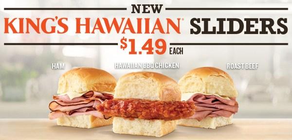 News Arby s King Hawaiian Sliders