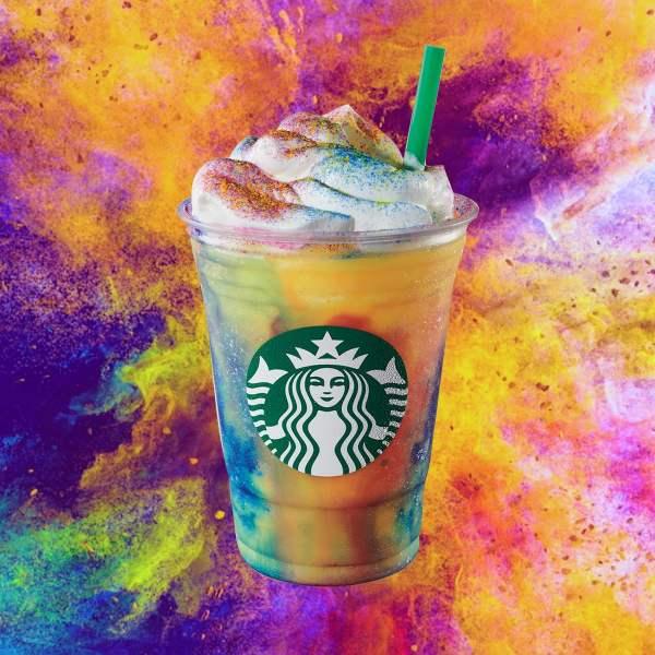 News Starbucks Tie Dye Frappuccino