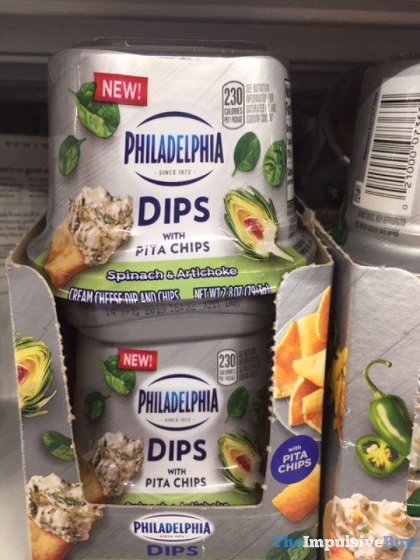 Philadelphia Dips with Pita Chips Spinach  Artichoke