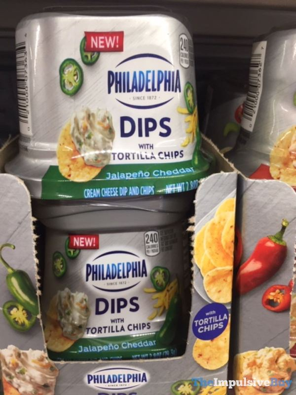 Philadelphia Dips with Tortilla Chips Jalapeno Cheddar