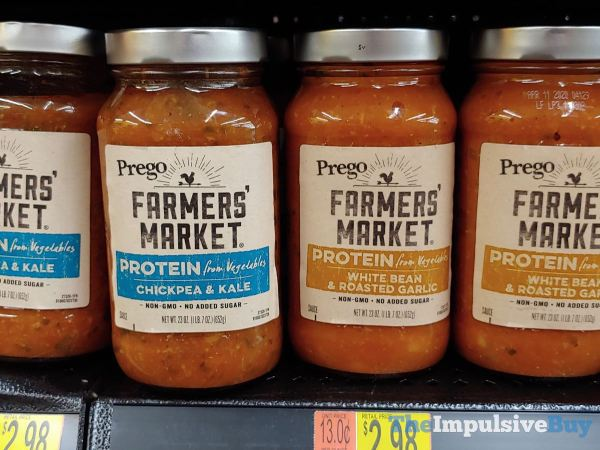 Prego Farmers Market Protein from Vegetables Pasta Sauces  Chickpea  Kale and White Bean  Roasted Garlic