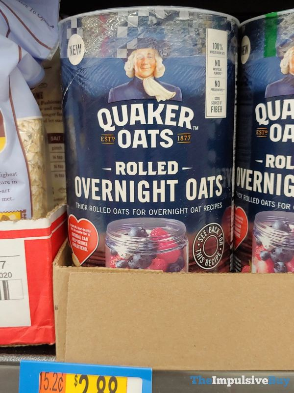 Quaker Oats Rolled Overnight Oats