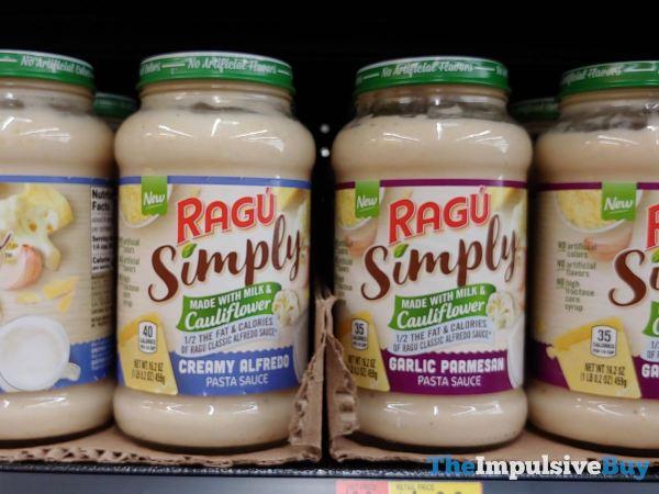 Ragu Simply Made with Milk  Cauliflower Pasta Sauces  Creamy Alfredo and Garlic Parmesan