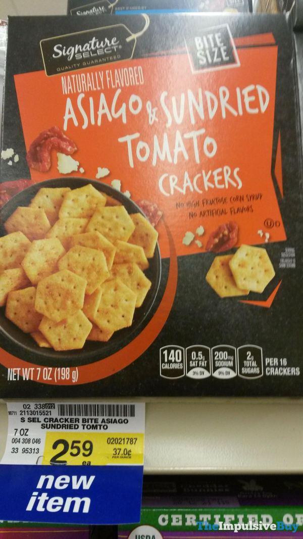 Signature Select Bite Size Asiago  Sundried Tomato Crackers