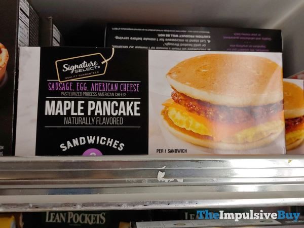 Signature Select Sausage Egg American Cheese Maple Pancake Sandwiches