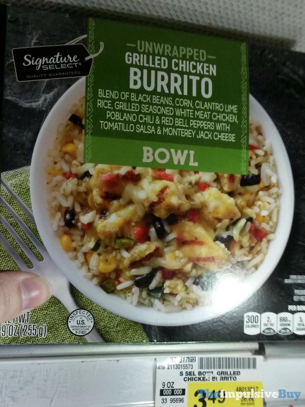 Signature Select Unwrapped Grilled Chicken Burrito Bowl