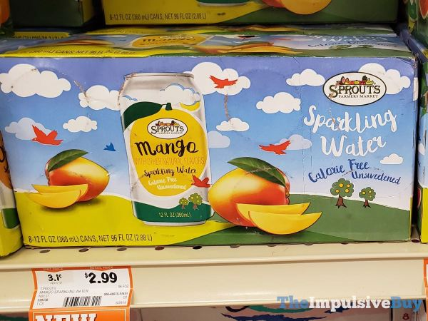 Sprouts Mango Sparkling Water