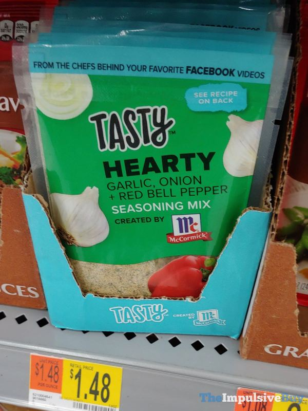 Tasty Hearty Garlic Onion  Red Bell Pepper Seasoning Mix Created by McCormick