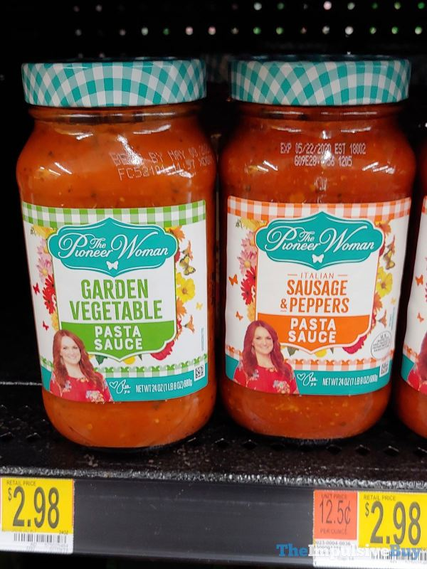 The Pioneer Woman Pasta Sauces  Garden Vegetable and Italian Sausage  Peppers