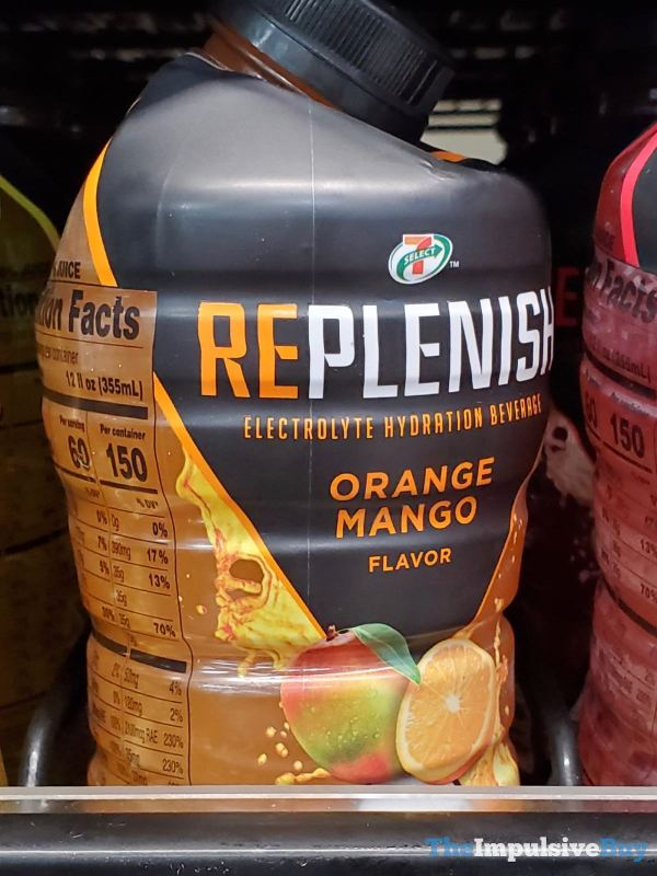 7 Select Orange Mango Replenish Electrolyte Hydration Beverage