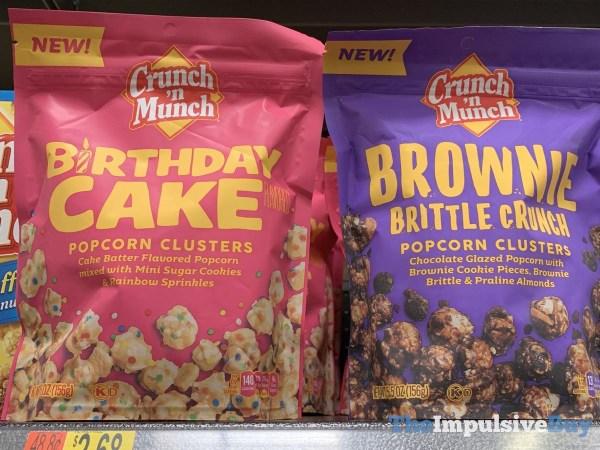 Crunch  N Munch Birthday Cake And Brownie Brittle Crunch Popcorn Clusters